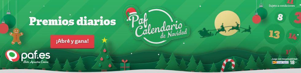 calendario navidad 2018